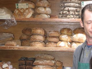 Fresh baked bread was everywhere, mostly from organic bakeries.