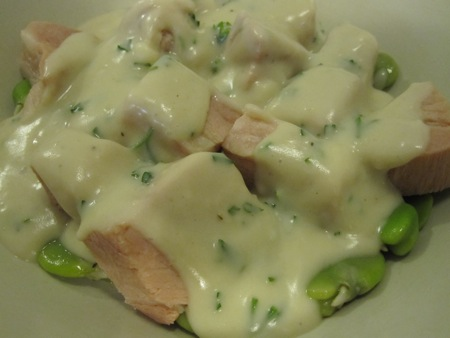Fava Beans, Ham, and Parsley Sauce