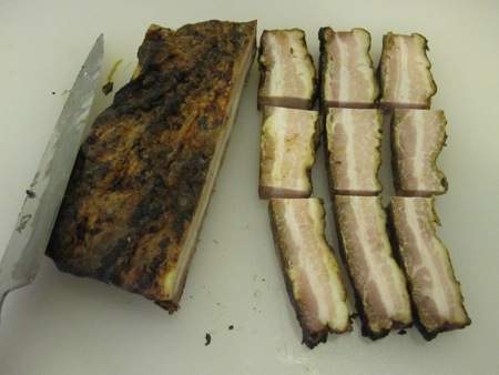 how to cook pork belly slices on the grill