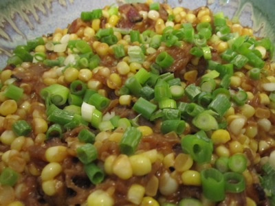 Post image for Roasted Summer Sweet Corn, Miso Butter, Bacon & Roasted Onions